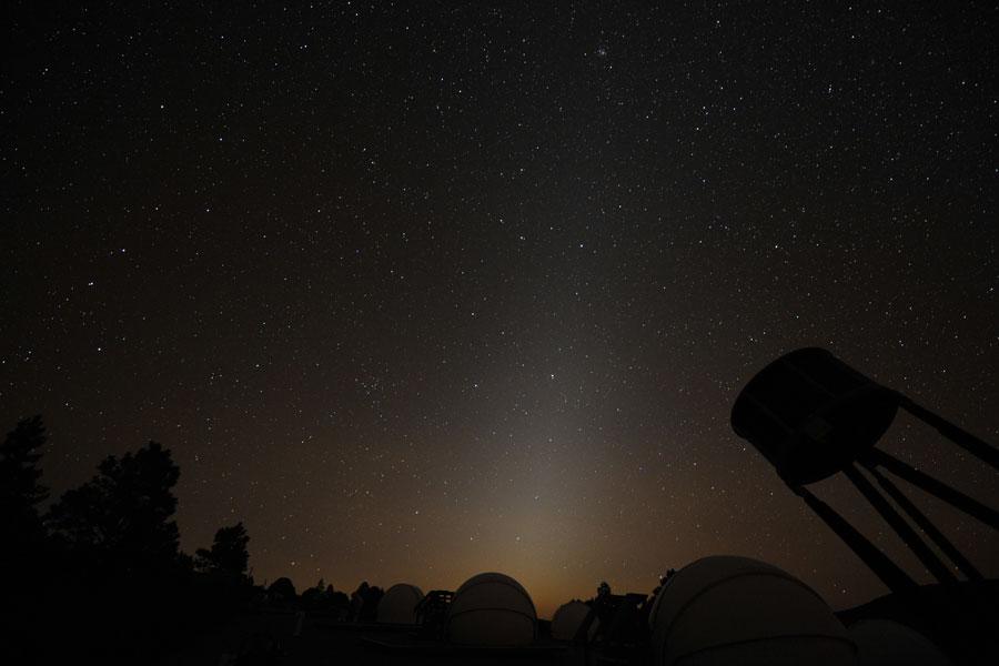 Lumière zodiacale au-dessus du Nouveau Mexique