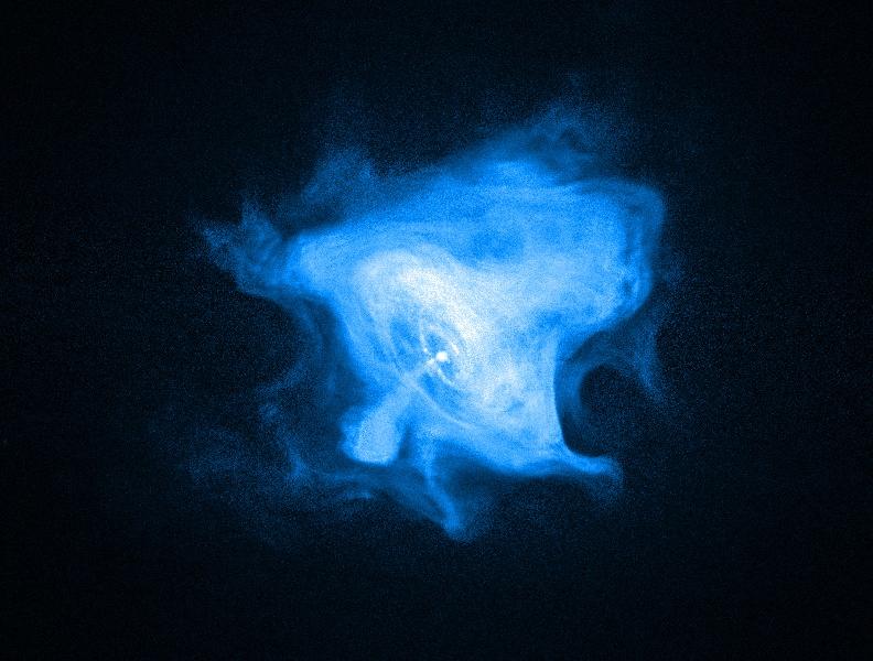 Le vent de la nébuleuse du pulsar du Crabe