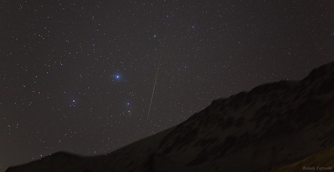 La comète et l\'étoile filante