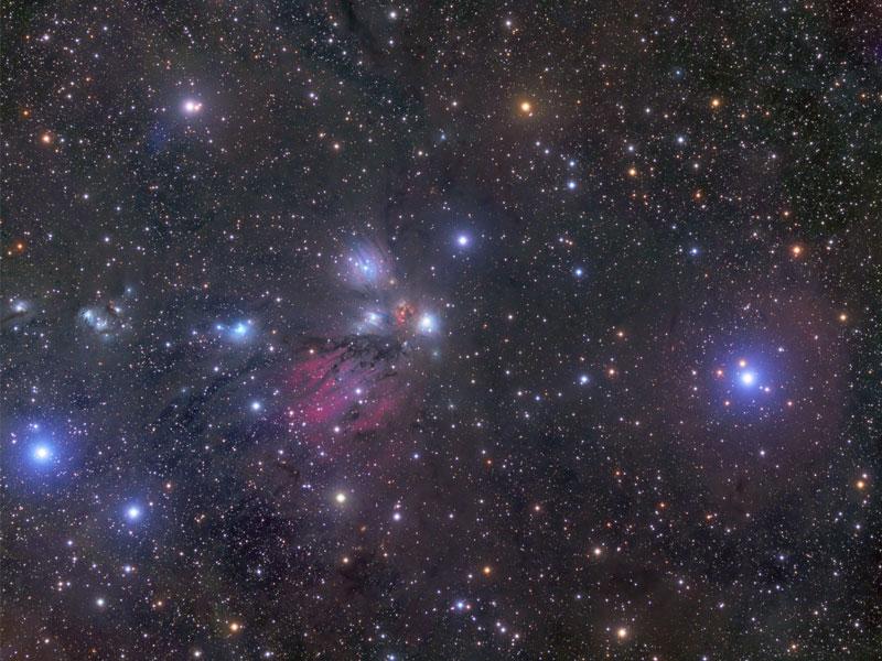 NGC 2170, céleste nature morte