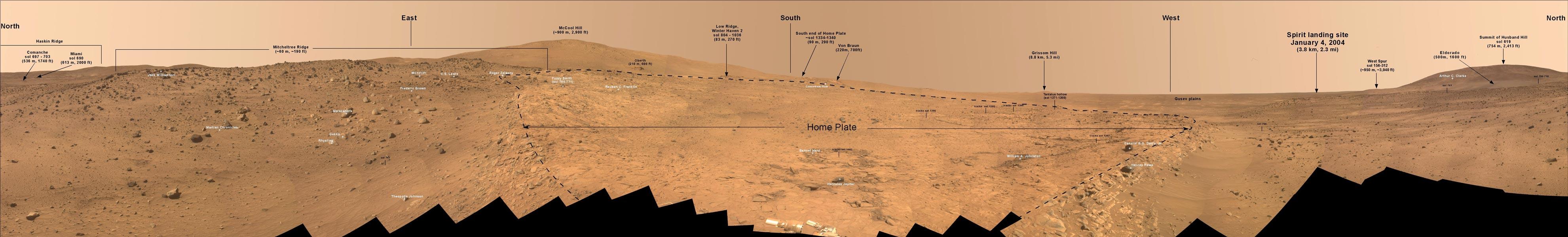 Un peu de l\'esprit de Chesley Bonestell sur Mars