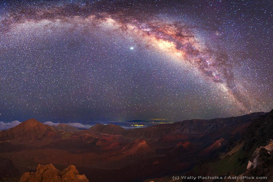 La Voie lactée au-dessus du Mauna Kea