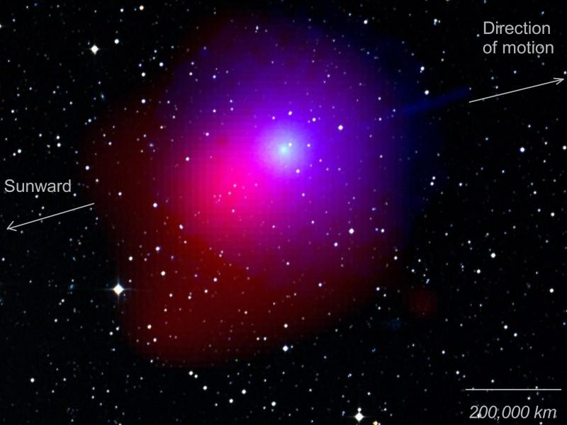 La comète Lulin vue par le satellite Swift