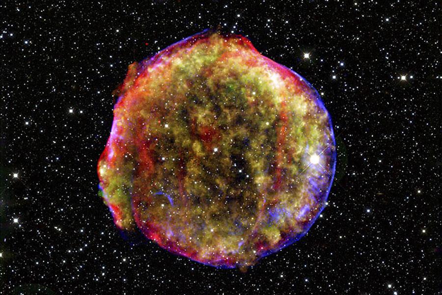 Le rémanant de supernova de Tycho