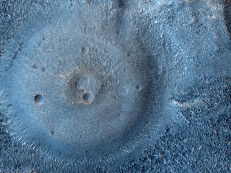 Possibles volcans de boue sur Mars