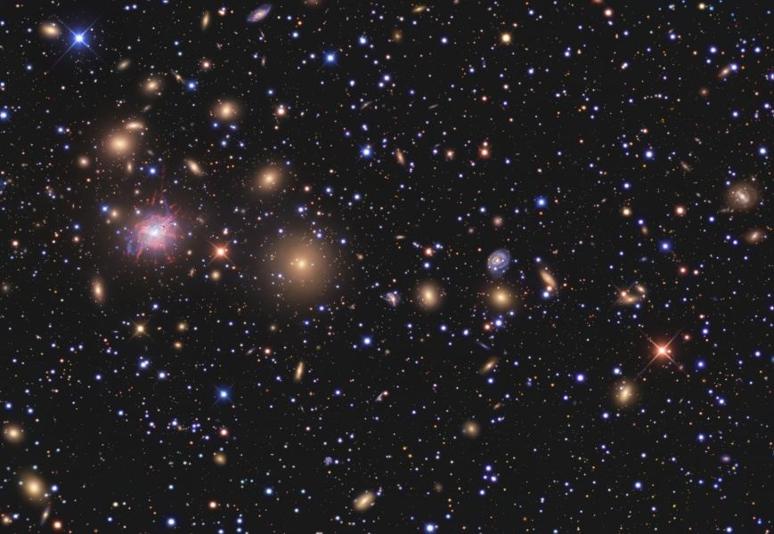 Les galaxies de l\'amas de Persée