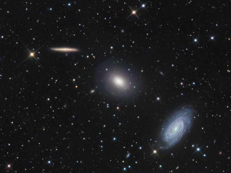 Trois galaxies dans le Dragon