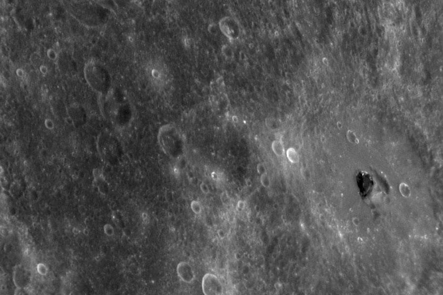 Matériau noir inconnu sur Mercure