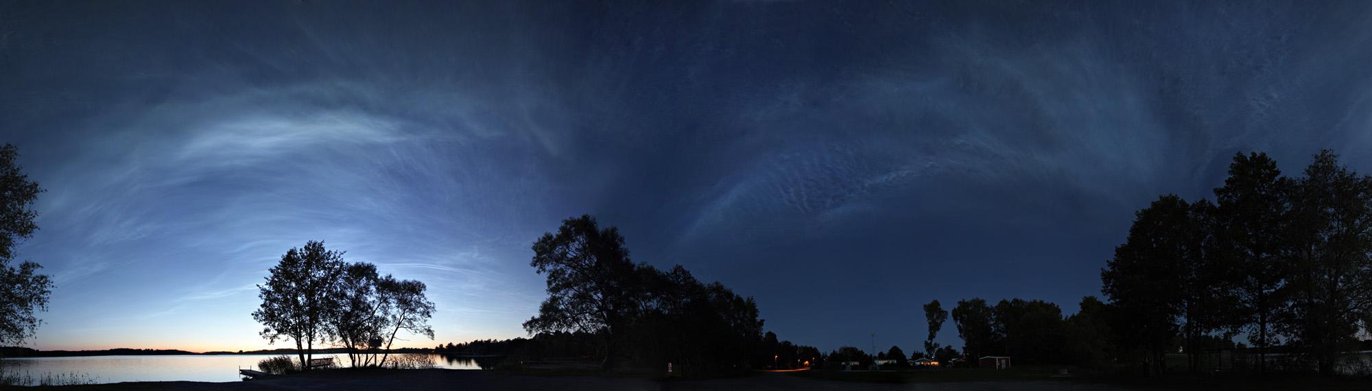 Tempête de nuages noctiluques