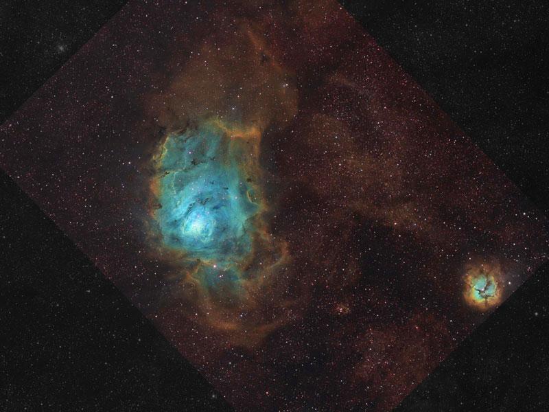 La nébuleuse de la Lagune en gaz, poussières et étoiles