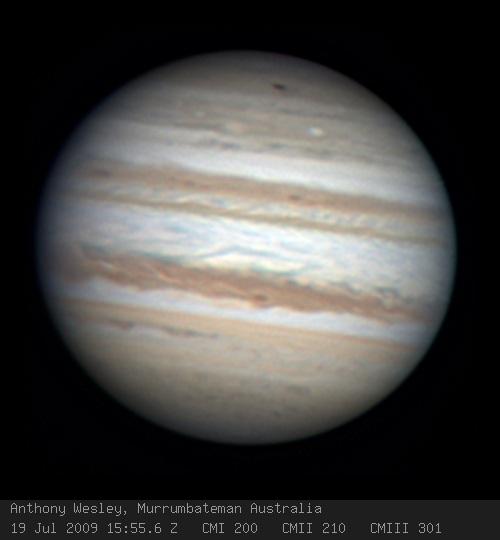 Une nouvelle cicatrice d'impact sur Jupiter