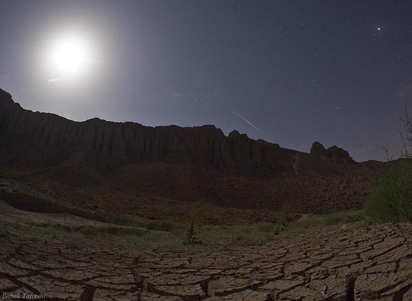 Etoile filante au clair de Lune