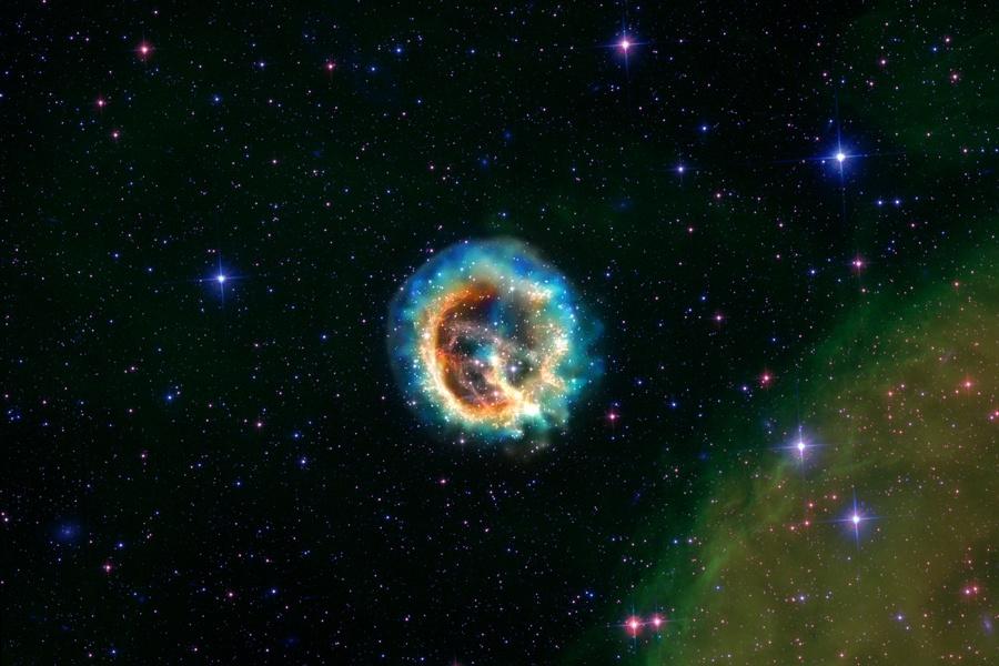Reste de supernova dans le Petit Nuage de Magellan