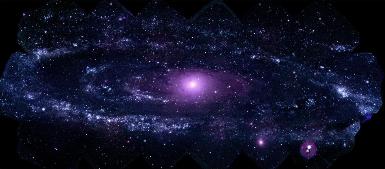 La grande galaxie d\'Andromède en ultraviolet