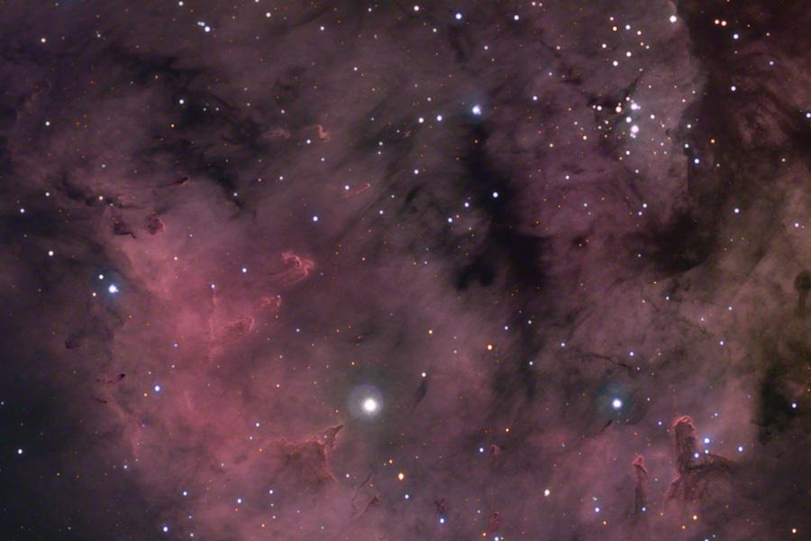 Les piliers d\'étoiles de Sharpless 171