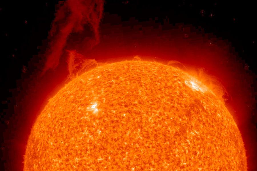 Protubérance solaire vue par STEREO