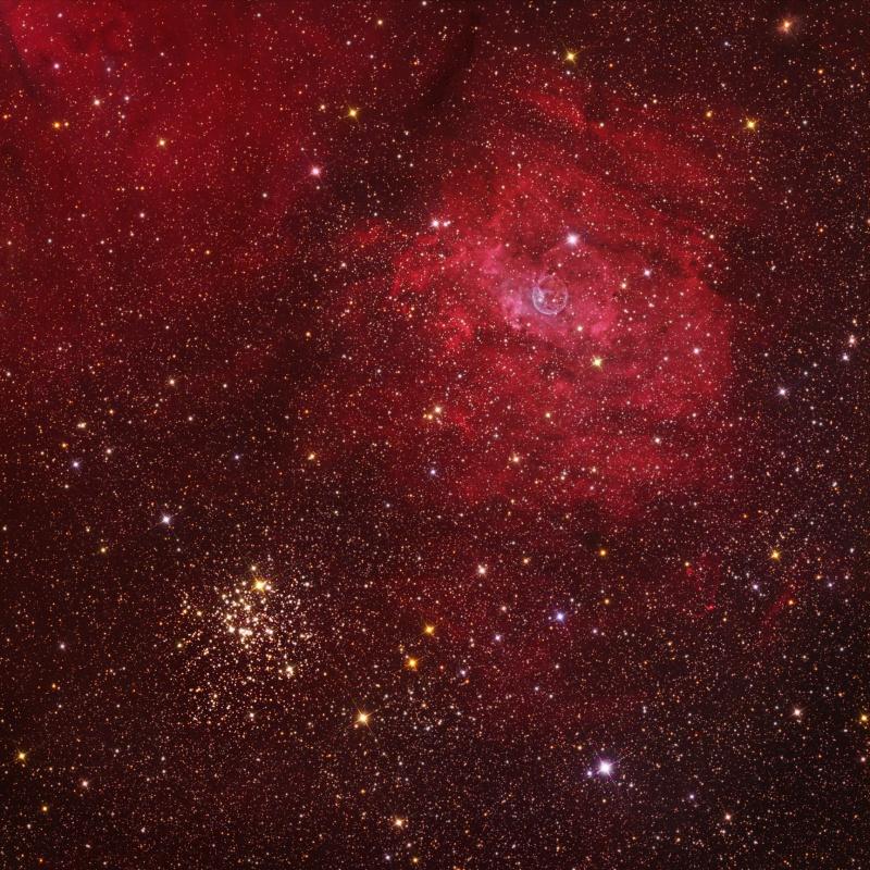 M52 et la Bulle