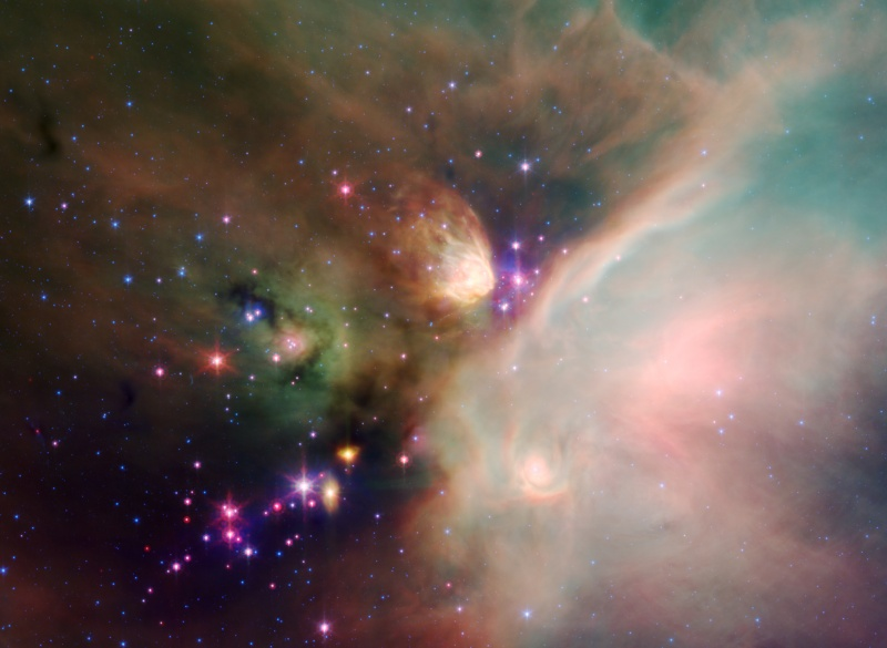 Jeunes étoiles dans le nuage de Rho Ophiuchi