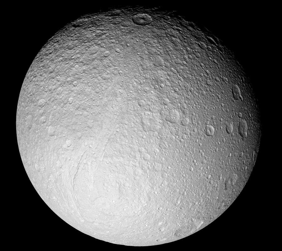 Téthys, lune de glace de Saturne