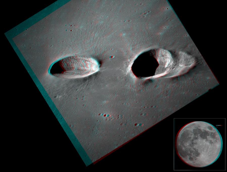 Les cratères de Messier en relief