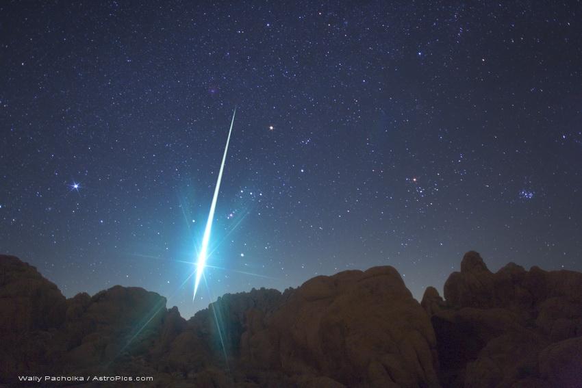 Une larme de lumière dans le désert de Mojave