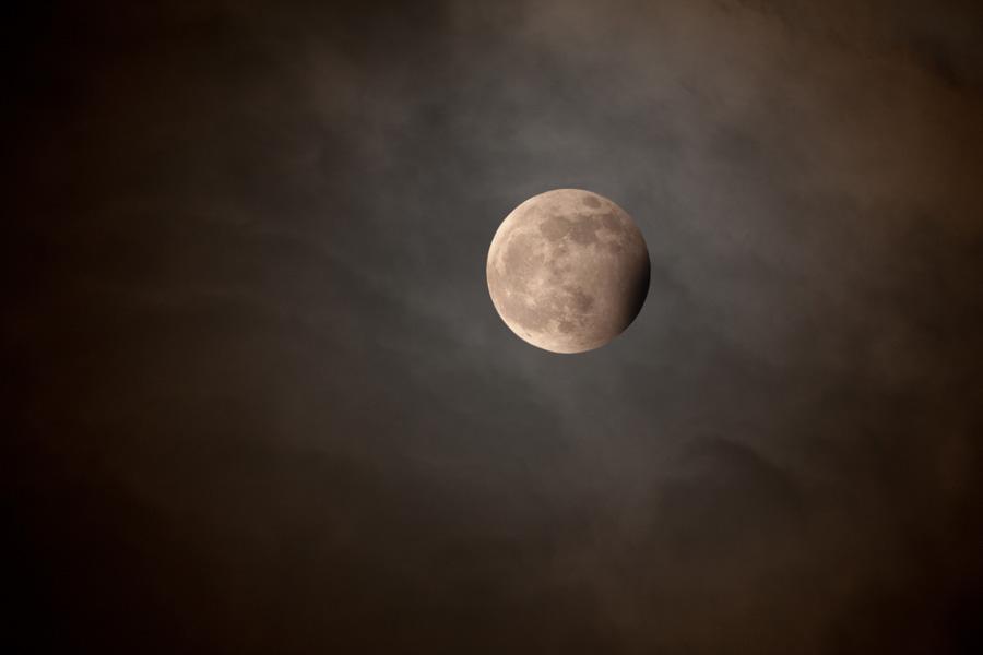 Eclipse de Lune bleue