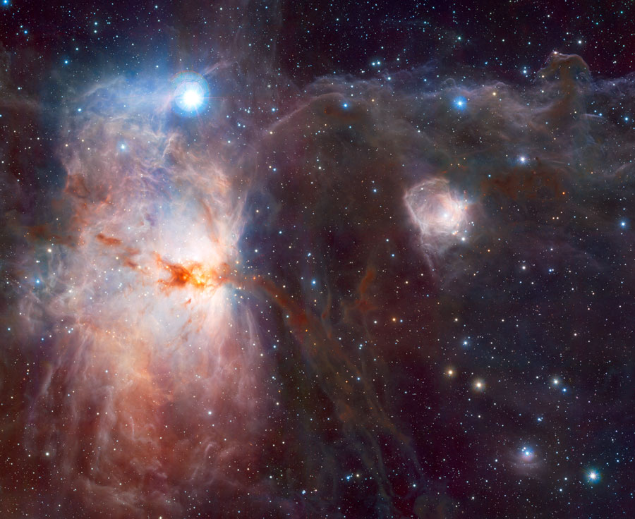 La nébuleuse de la Flamme en infrarouge