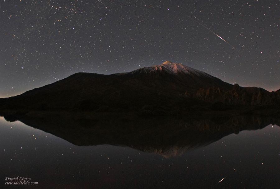 Filé d\'étoiles sur le Teide
