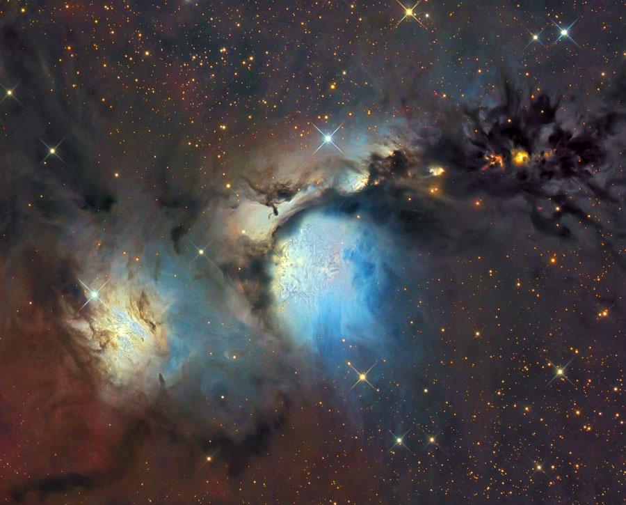 M 78 et les nuages de poussière d\'Orion