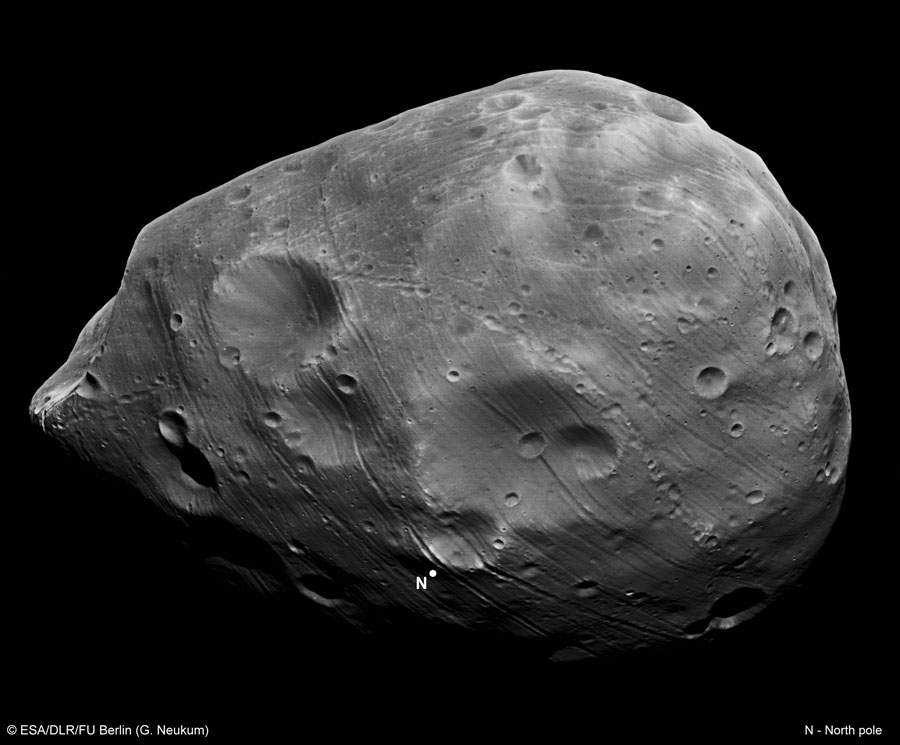 Phobos par Mars Express