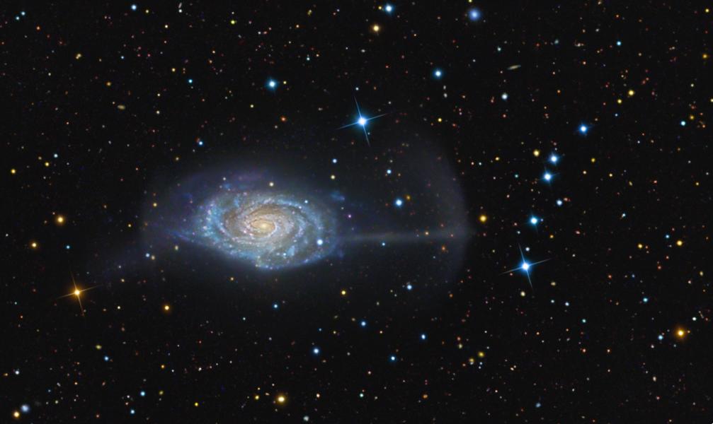 NGC 4651, la galaxie du Parapluie