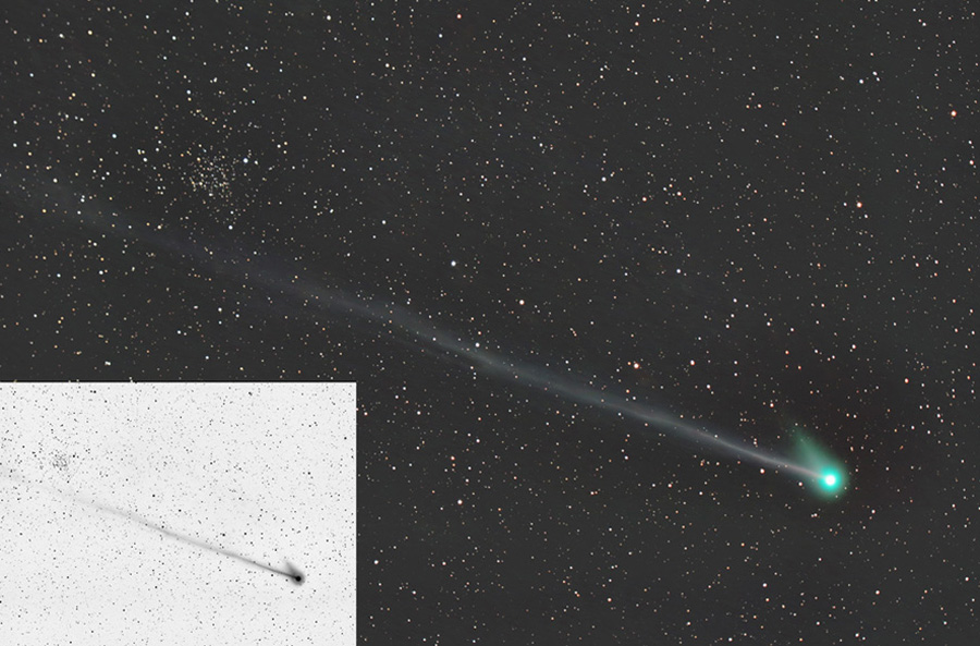 La comète MacNaught croise NGC 1245