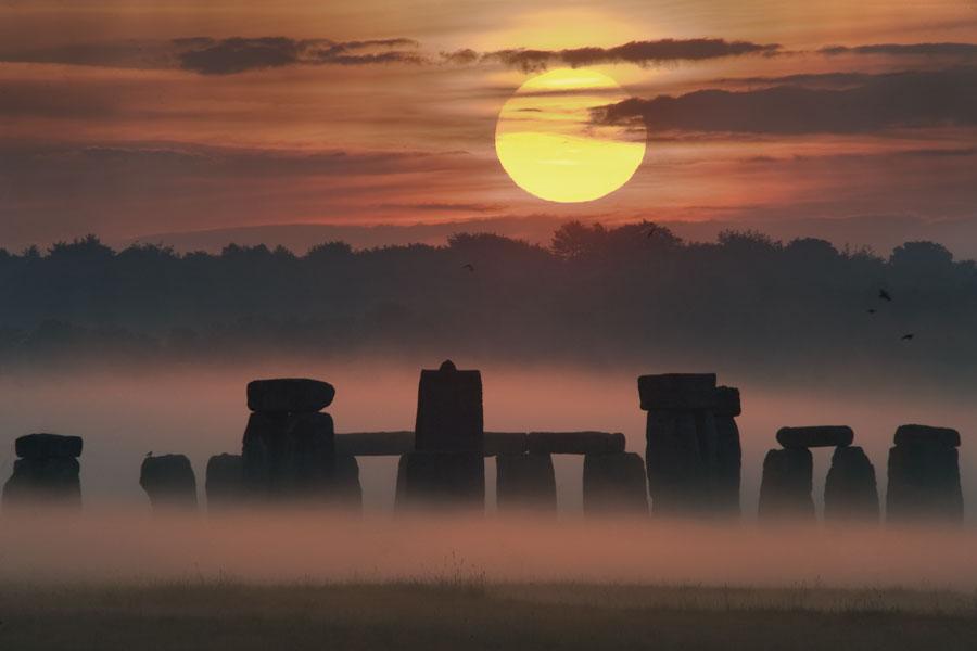Lever de Soleil de solstice sur Stonehenge