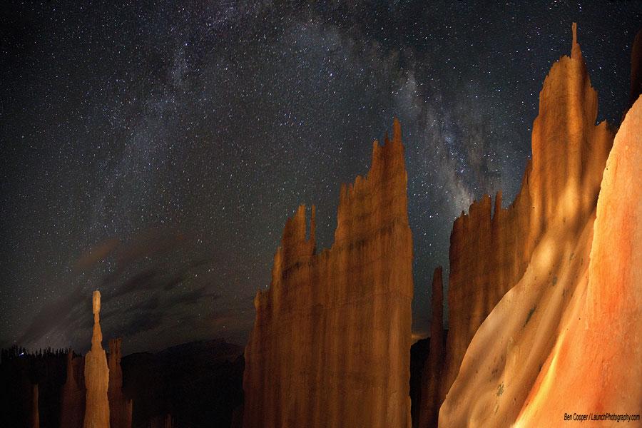 La Voie lactée au-dessus de Bryce Canyon