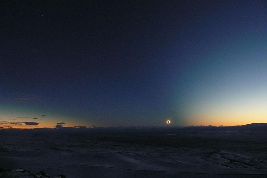 Cône d\'ombre sur la Patagonie