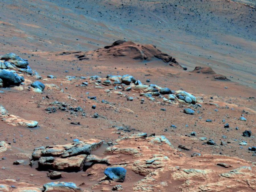 Un affleurement rocheux indice d\'un possible passé hospitalier de Mars