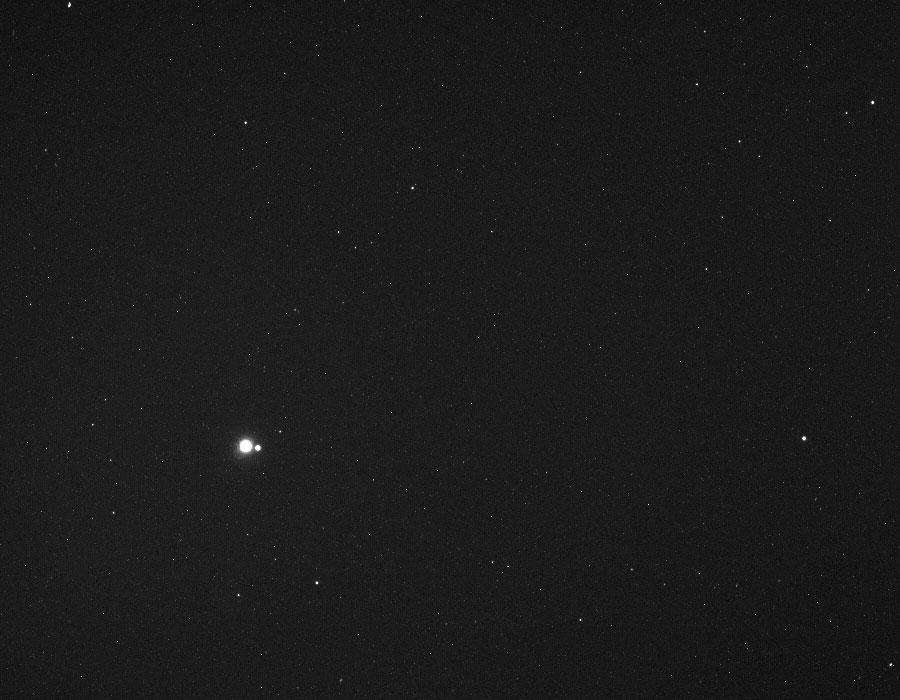 La Terre et la Lune vues depuis la distance de Mercure