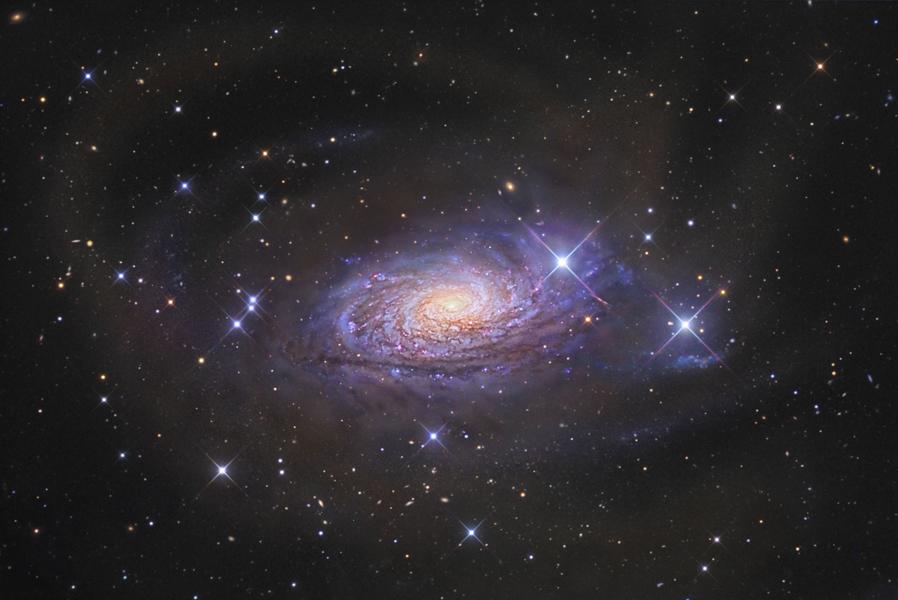 Un courant d\'étoiles à proximité de la galaxie du Tournesol