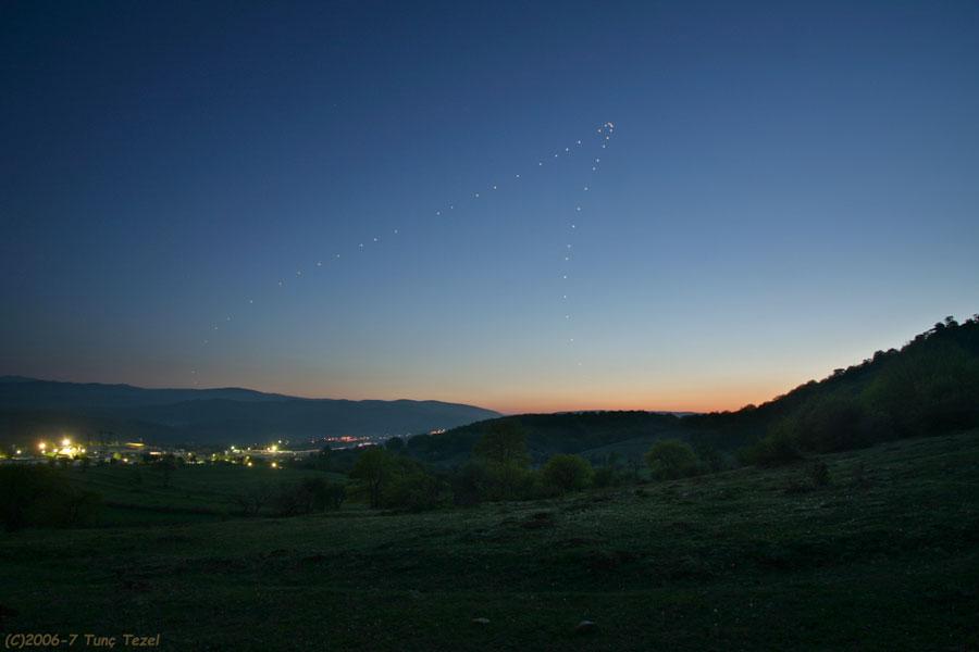 Vénus juste après le coucher du Soleil