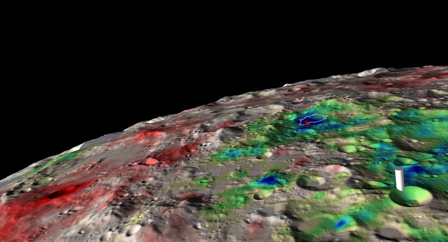 Glace d\'eau détectée sous la surface lunaire