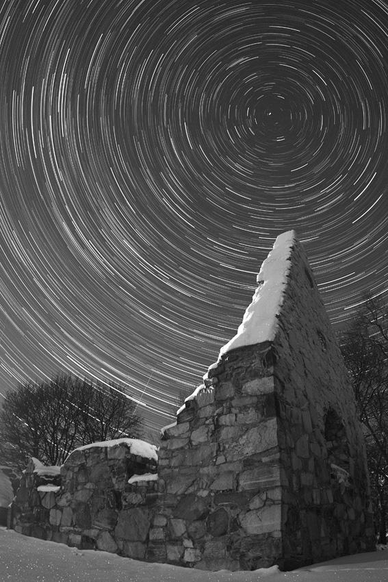 Filé d'étoiles dans le grand nord
