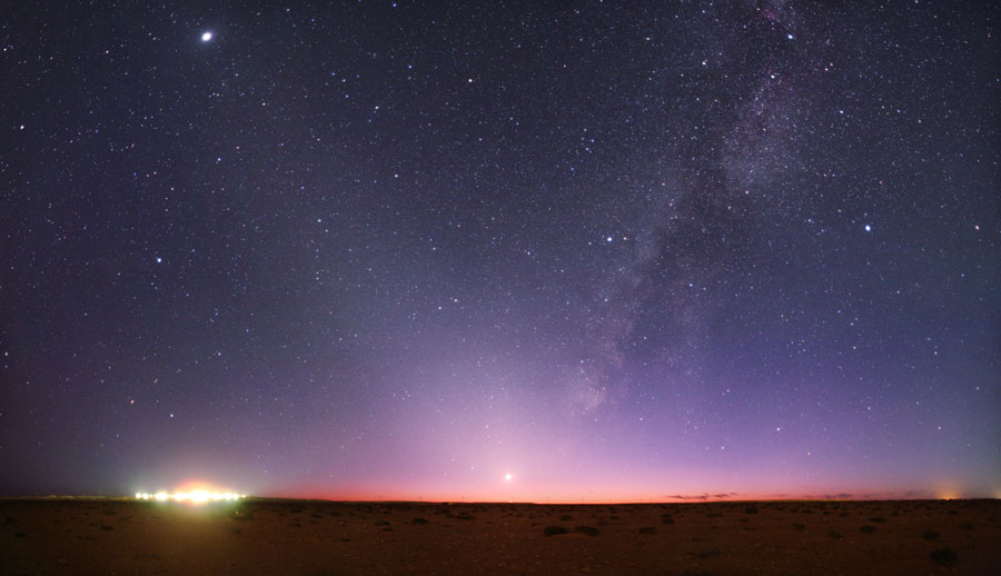 Lumières du ciel au-dessus de la Libye