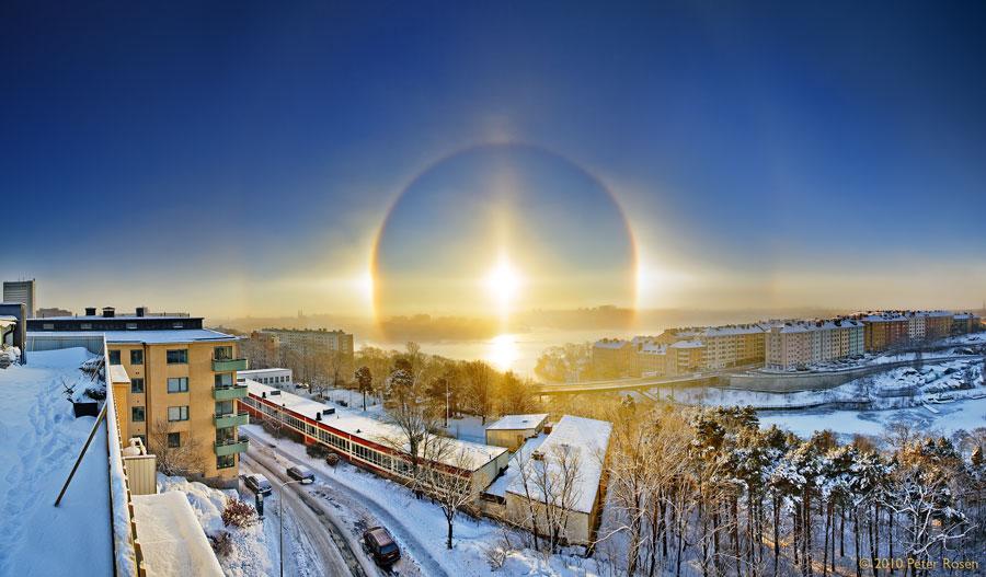 Halo solaire sur Stockholm