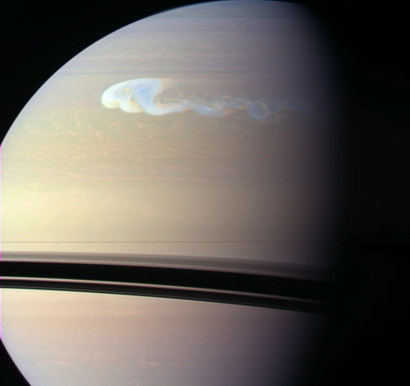 Tempête sur Saturne