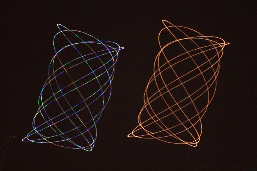 Mars et Régulus, l'une scintille et l'autre pas