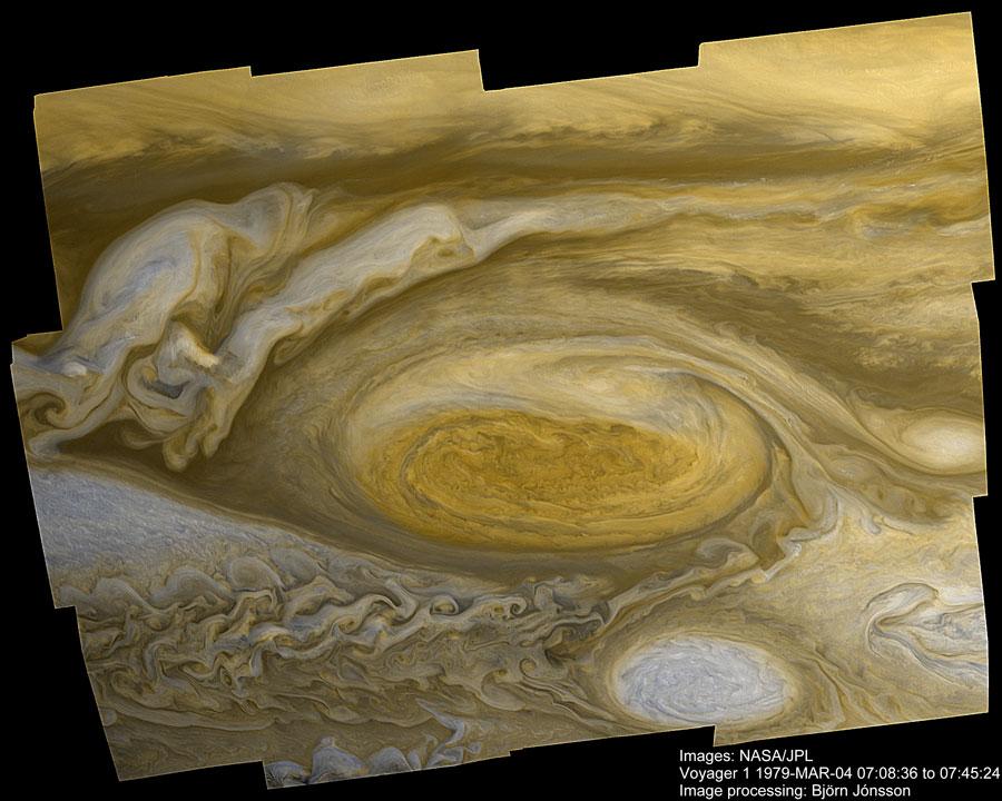 La Grande Tache Rouge de Jupiter vue par Voyager 1