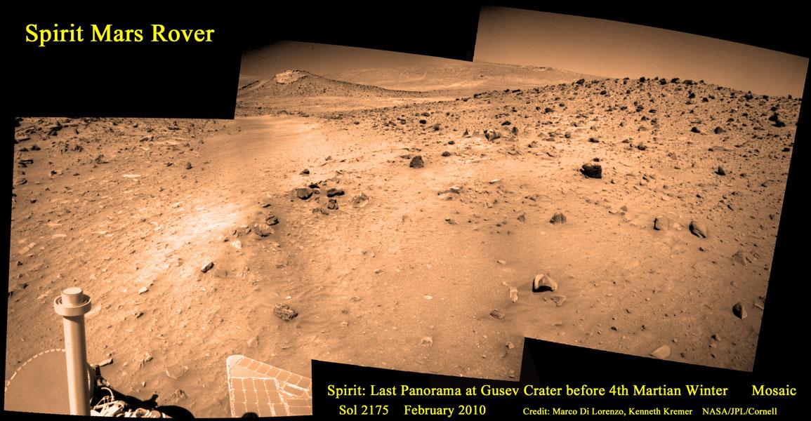 Le dernier panorama de Spirit sur Mars