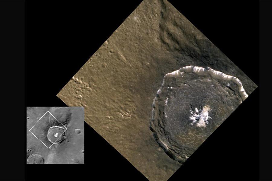 Le cratère Degas sur Mercure vu par Messenger