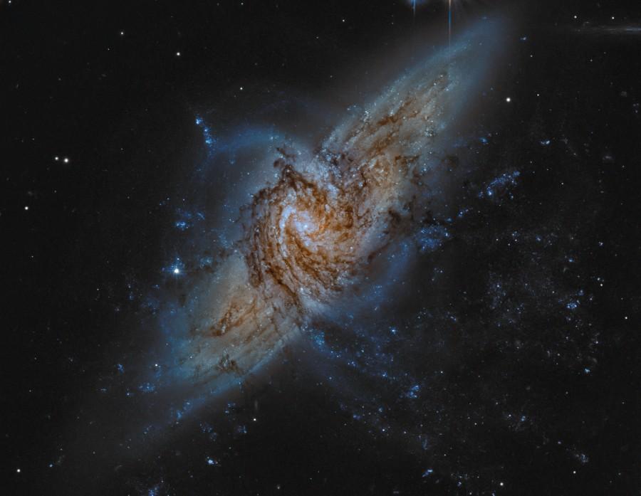 NGC 3314, galaxies dans la ligne de mire