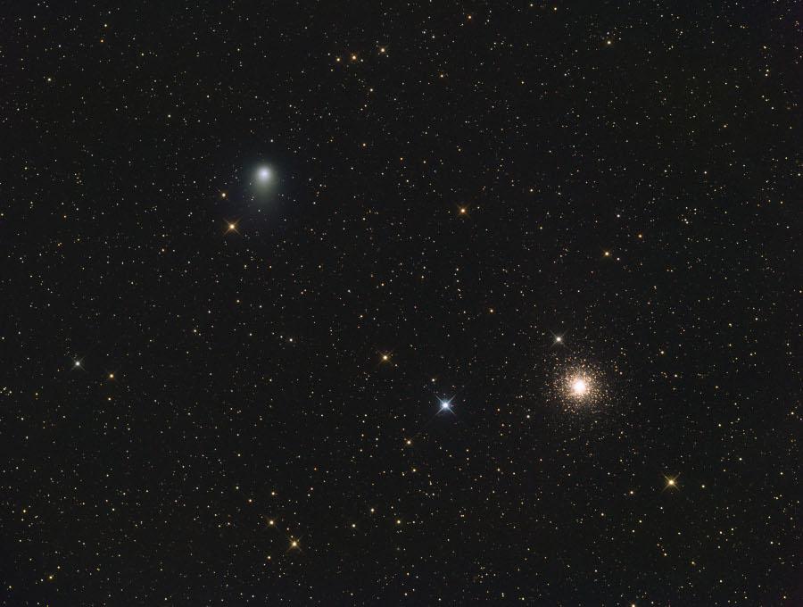 La comète Garrad non loin de M15